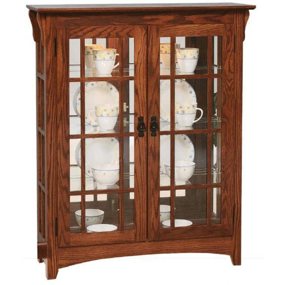 Small Mission Curio Cabinet 2061
