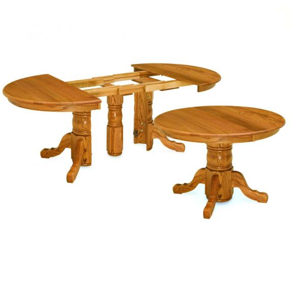 Split Pedestal Dining Table