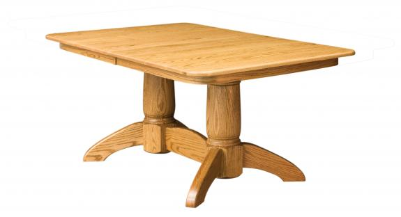 D-20 Tuscan Double Pedestal Table
