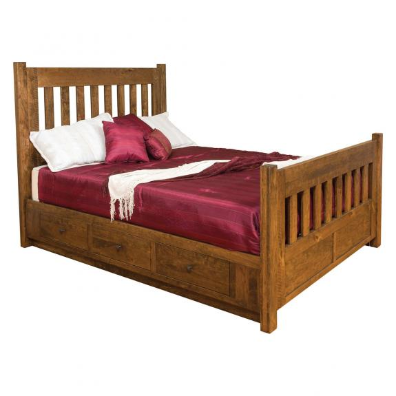 Timber Mill Bedroom Collection Queen Size Storage Bed