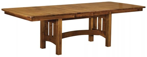 Vancouver Stickley Style Trestle Table