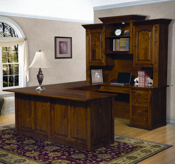 FVD-9678UHT-VS Victorian 4 Piece Desk