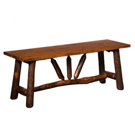 322 Wagon Wheel Dining Table Bench
