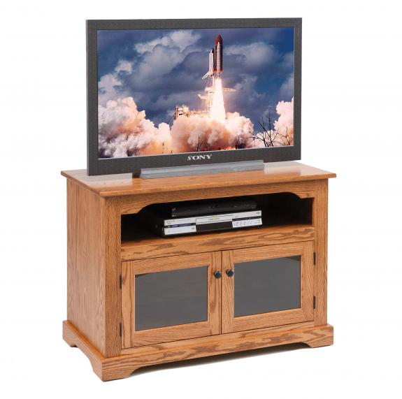 "955 40"" TV Stand with Glass Doors"