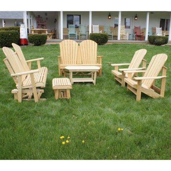 Adirondack Porch Glider Set