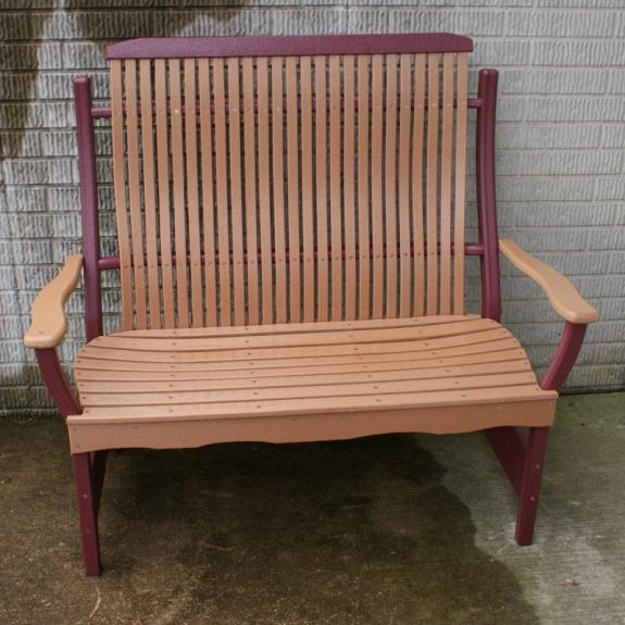 Bent Poly Porch Bench