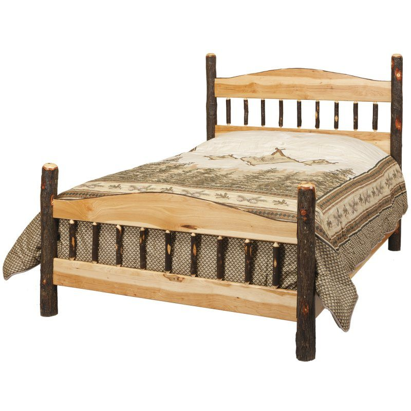 Rustic Log Bedroom Set CH-615 Panel Log Bed