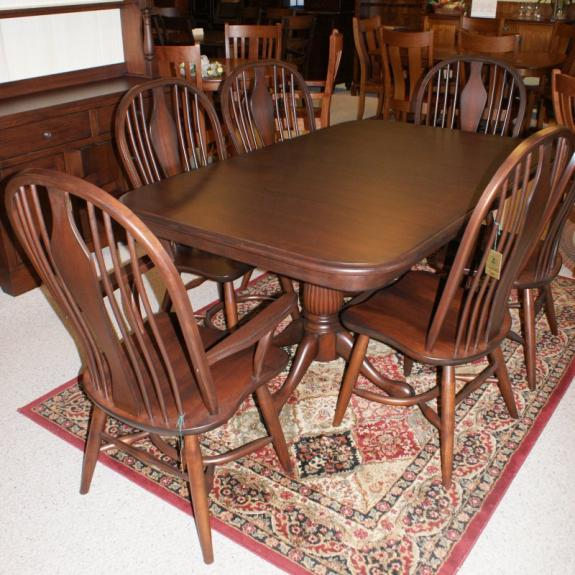 Cabriole Tulip Double Pedestal Table