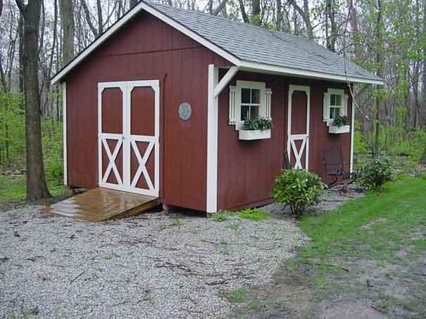 Quaker Storage Shed Clear Creek Amish Furniture