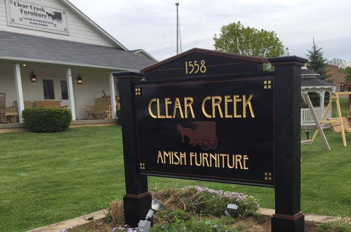 Clear Creek Amish Furniture Store Features Poly Outdoor Furniture