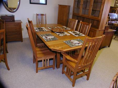 Diamond mission dining table set clear creek amish furniture diamond mission dining table set workwithnaturefo