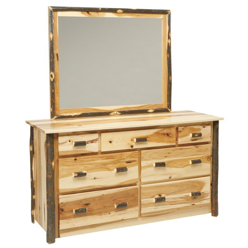 Rustic Log Bedroom Set 635 7 Drawer Dresser