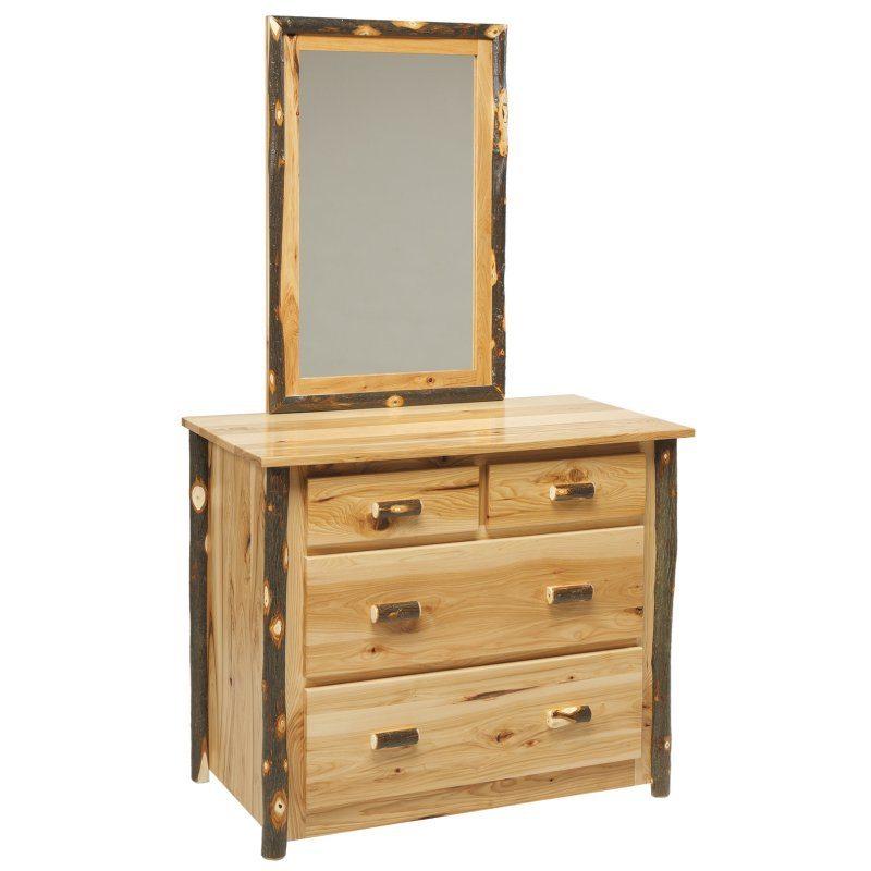 Rustic Log Bedroom Set 625 4 Drawer Dresser