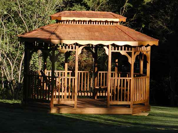 Eight Sided Oval Gazebo