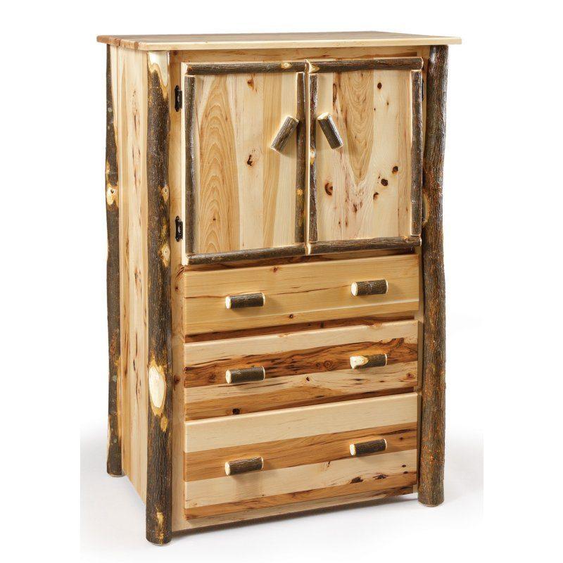 Rustic Log Bedroom Set CH-633 Rustic Armoire