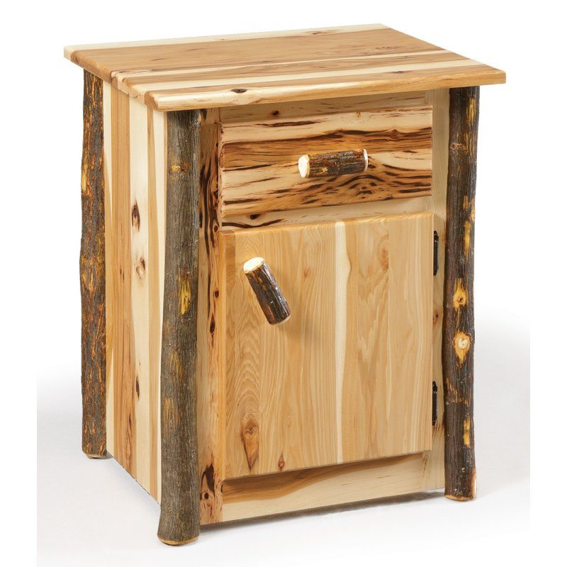Rustic Log Bedroom Set CH-622 Nightstand