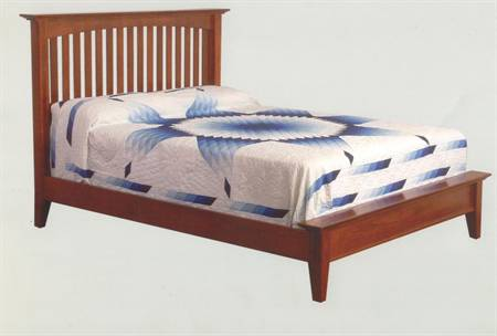 Arched Mission Slat Bed