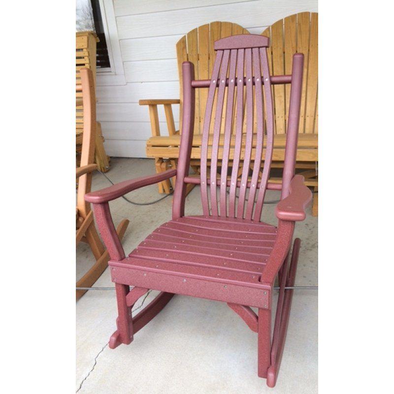 Bent Poly Porch Rocker Clear Creek Amish Furniture