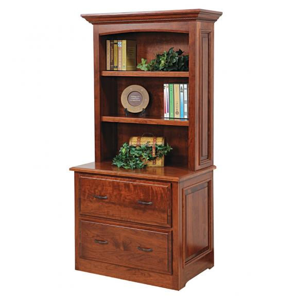 LIB-1304 Liberty Lateral File with Hutch