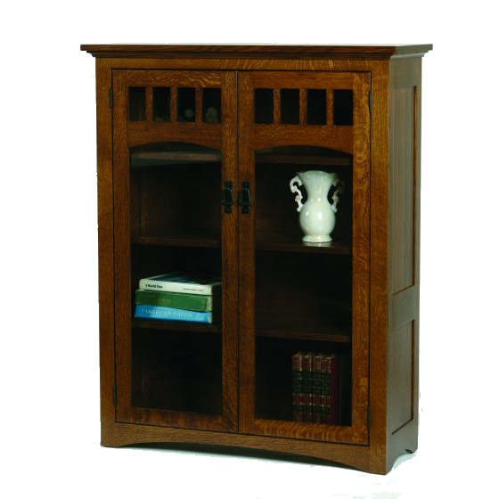 M-3648C Mission Bookcase with Glass Doors