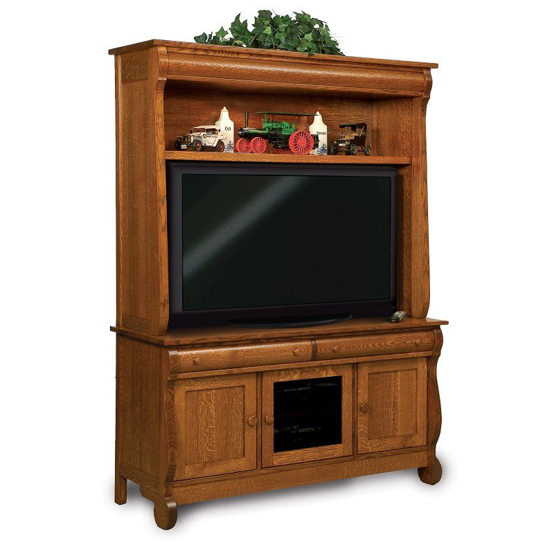 FVE-043-OCS Old Classic Sleigh Two Piece Media TV Cabinet