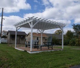 Pergola with Sun Screen