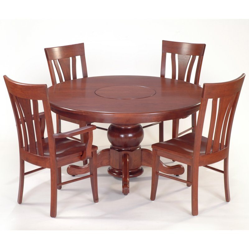 30 Single Potbelly Dining Set Single potbelly table with built in lazy susan