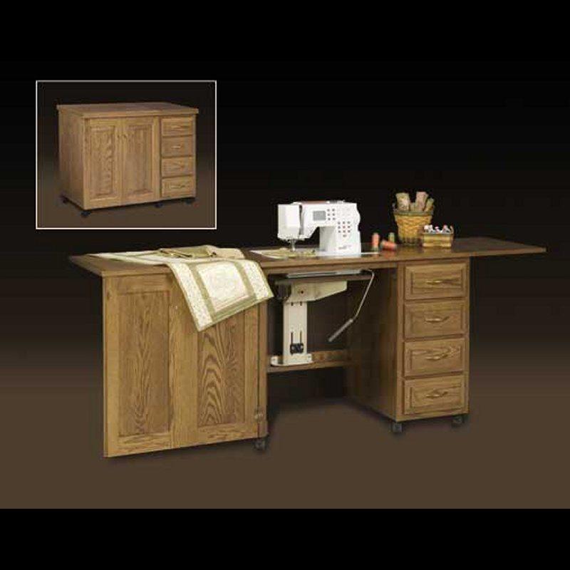 Oak Sewing Cabinet Clear Creek Amish Furniture