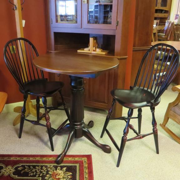Drop Leaf Single Pedestal Pub Tables