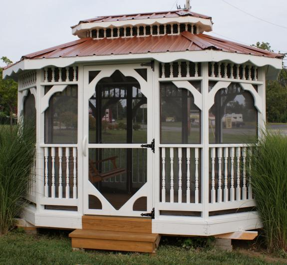 8×12 Gazebo with Tin Roof