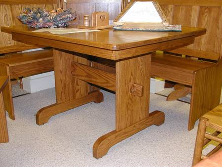 Trestle Table with Nook Benches