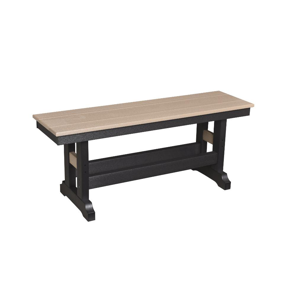 Garden Mission Straight Outdoor Bench, Poly