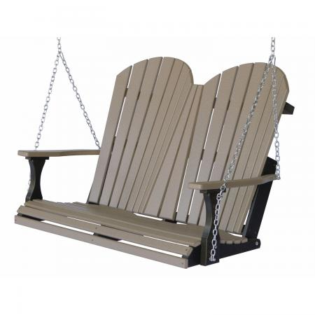 Comfo Back Double Porch Swing, Poly
