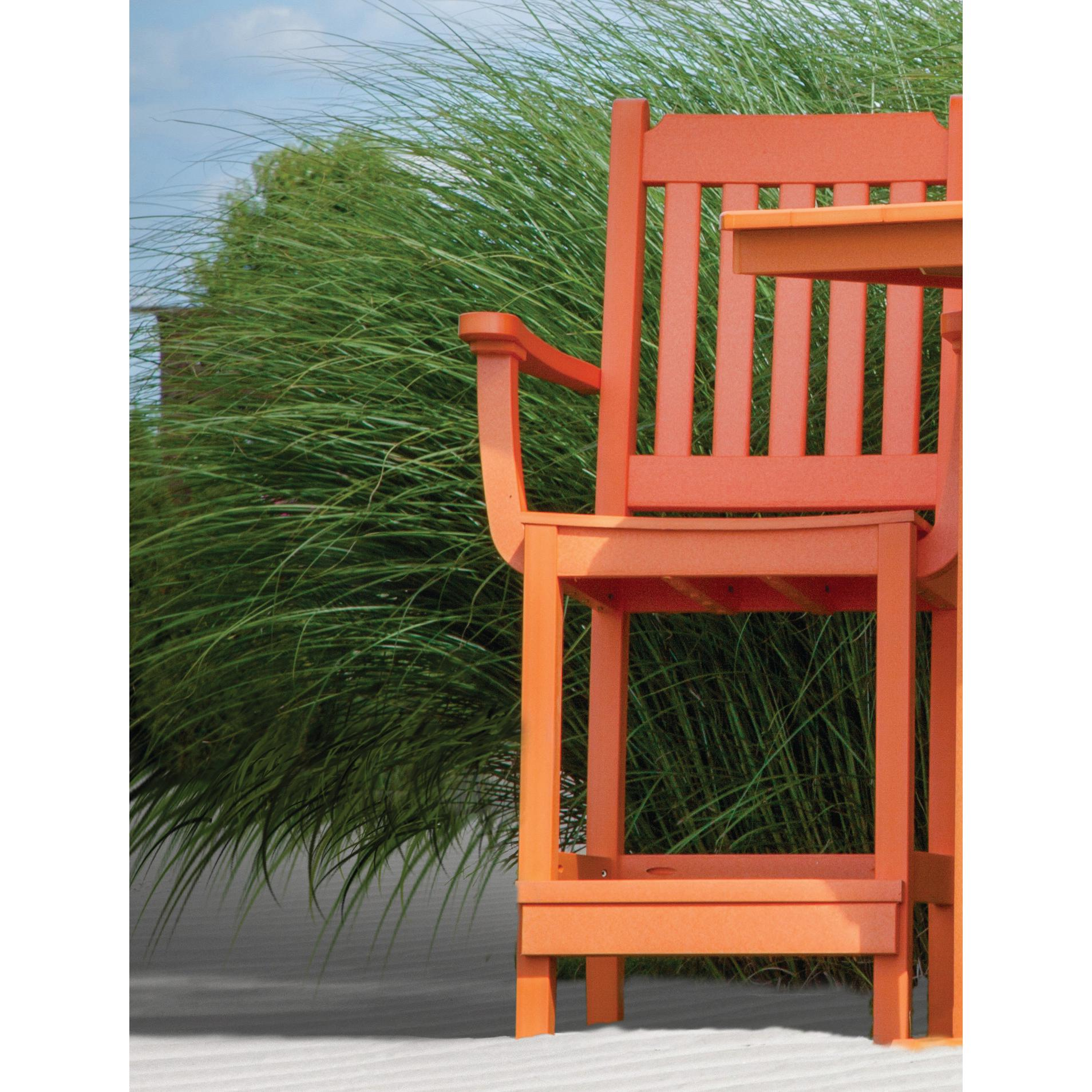 Counter or Bar Chair, Garden Mission, Poly