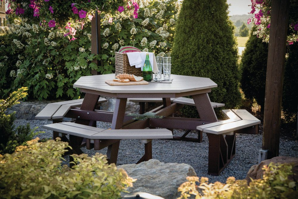 Octagon Picnic Table, Poly