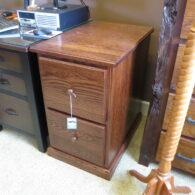 Two drawer file cabinet, Oak