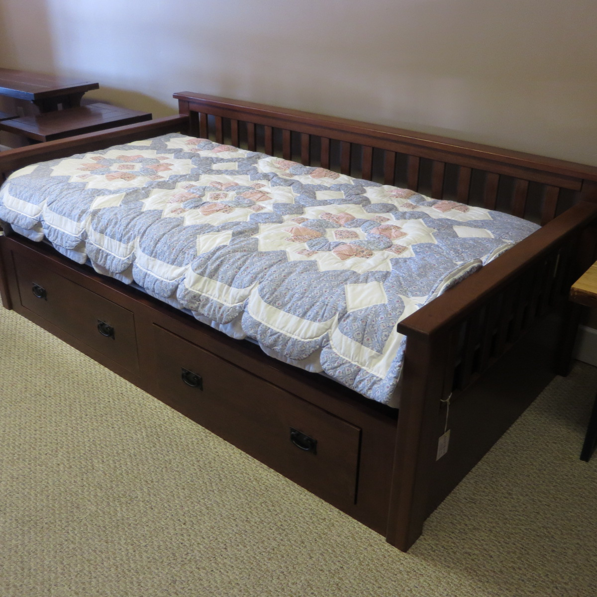 Day Bed with Drawer Storage, Cherry