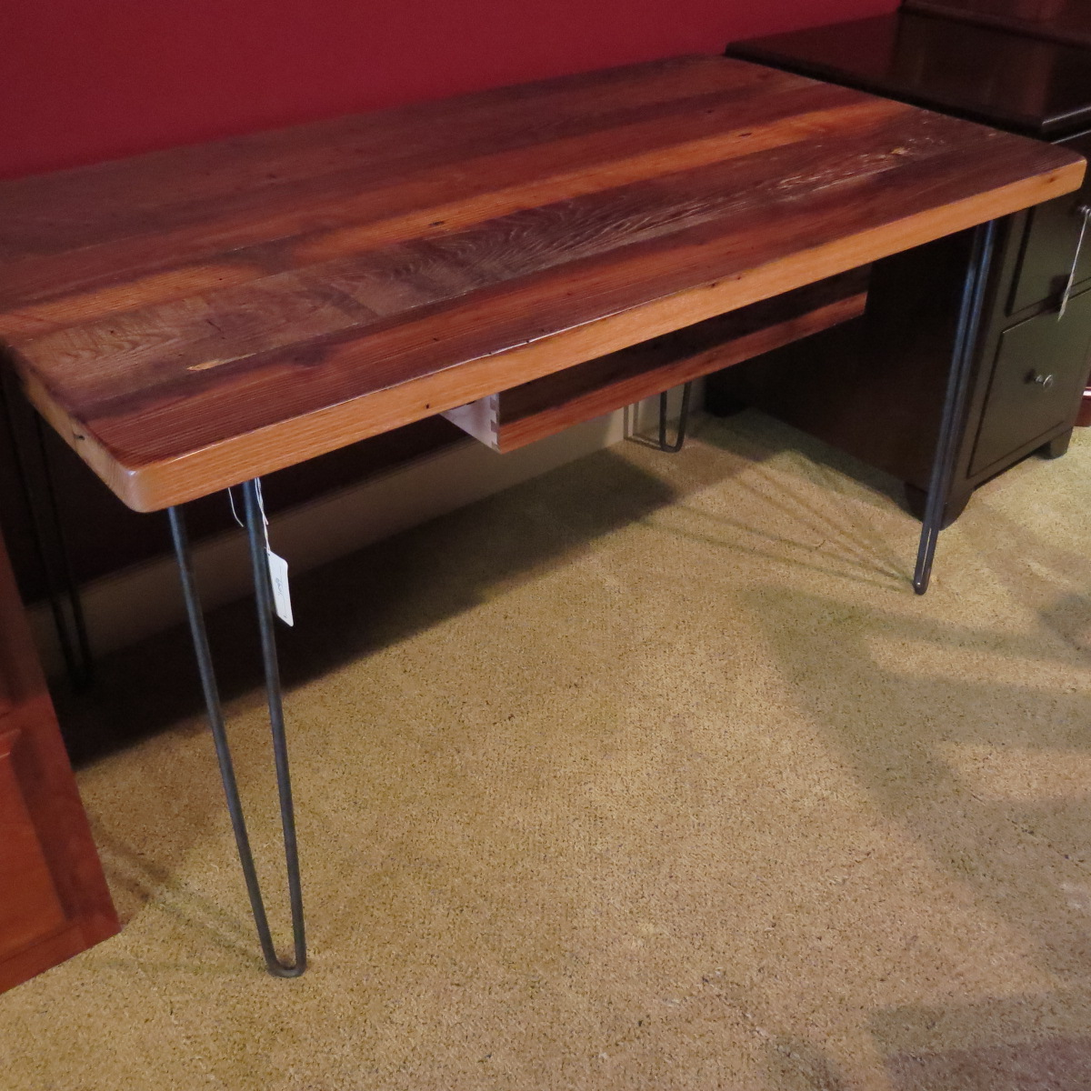Open Style Writing Desk, Reclaimed Chestnut
