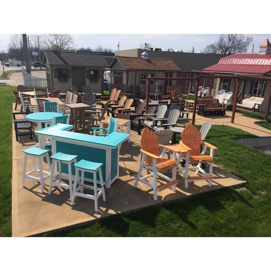 After a winter that wouldn't end, it's time for some outdoor living! Poly furniture!