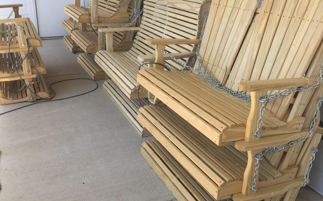 Our treated pine swings and gliders are awesome!
