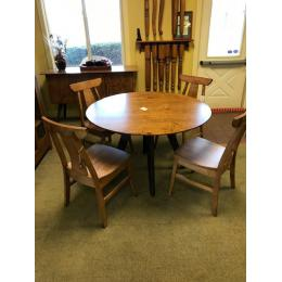 "Contempoary 48"" round table,  4 chairs and Buffet"