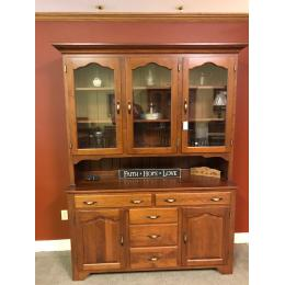 """Traditional 60"""" wide cherry hutch"""