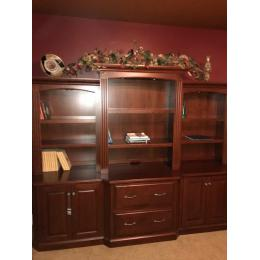 "101"" cherry office wall unit"